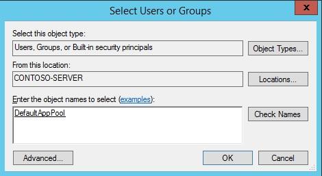 Application Pool Identities