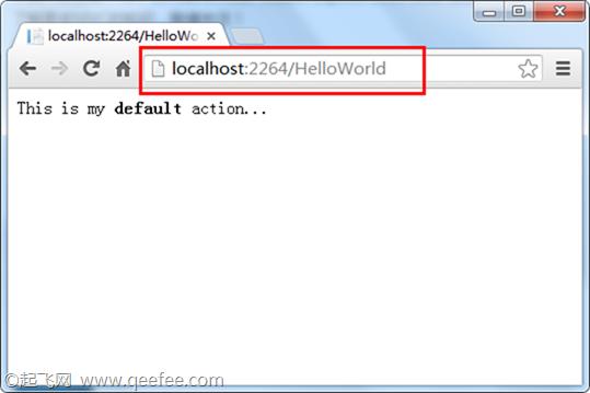 浏览器中查看 HelloWorld